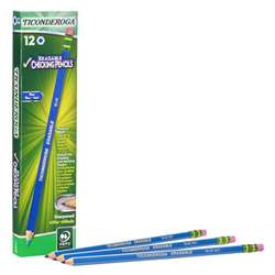 Erasable Colored Pencils Blue Ticonderoga, DIX14209