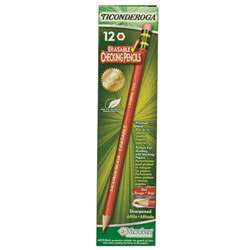 Ticonderoga Erasable 12Ct Colored Pencils Carmine Red By Dixon Ticonderoga