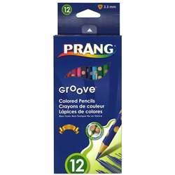 Prang Groove Colored Pencils 12 Ct, DIX28112