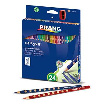 Prang Groove Colored Pencils 24 Ct, DIX28124