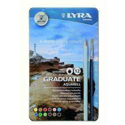 Aquarell Colored Pencils Metal 12Bx Lyra Graduate, DIX2881120
