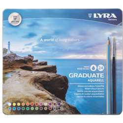 Aquarell Colored Pencils Metal 24Bx Lyra Graduate, DIX2881240