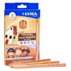Giant Color Pencils Skin Tones 12Pk Lyra Color, DIX3931124
