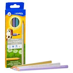 Giant Colored Pencils Metallic 6Pk Lyra Color, DIX3941062