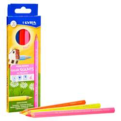 Giant Colored Pencils Neon 6Pk Lyra Color, DIX3941063