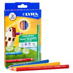 Giant Color Pencils Lacquered 12Pk Lyra Color, DIX3941120