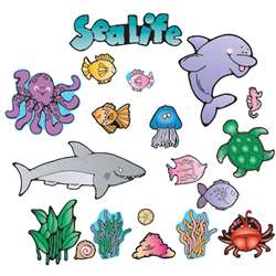 Sea Life Bulletin Board Sets-Early Learning Learning All By Carson Dellosa