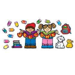 Apple Kids Welcome Bulletin Board Sets Welcome All By Carson Dellosa