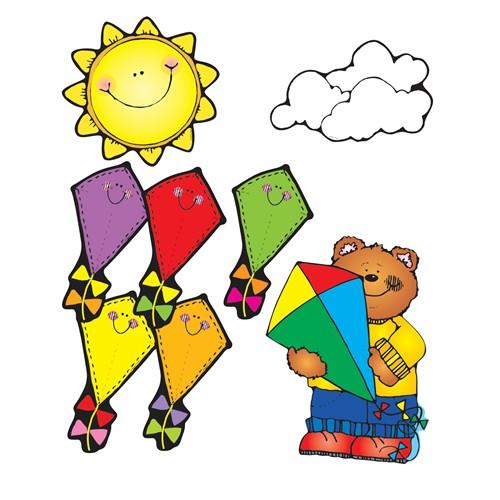 kites bulletin board set dj610051 carson dellosa