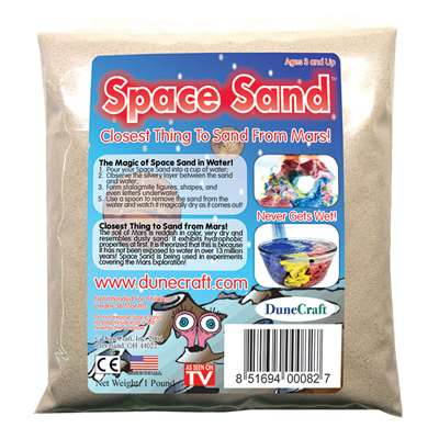 Space Sand Refill White 1Lb By Dunecraft