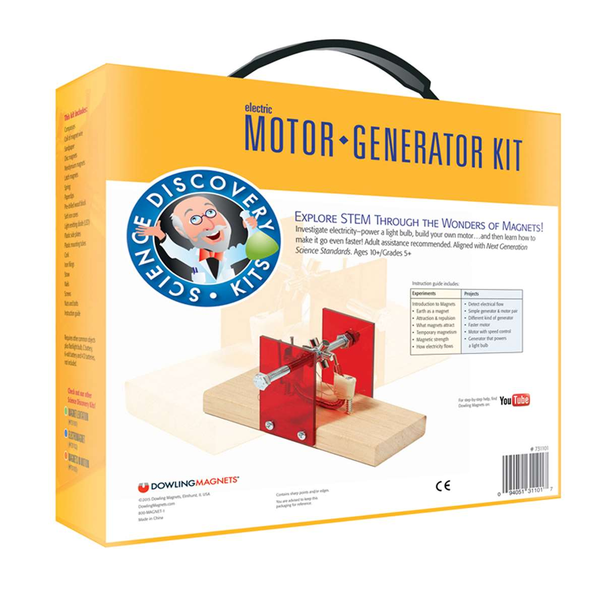 Science Kit Electric Motor Generator