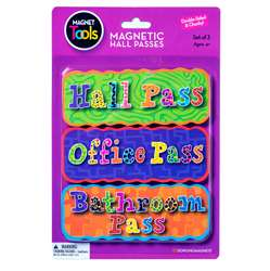 Magnetic Hall Pass Set 3 Pieces By Dowling Magnets