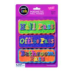 Magnetic Hall Pass Set 3 Per Pack (2 Pk), DO-735204BN