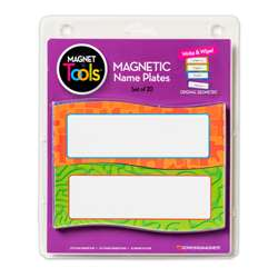 Magnetic Name Plates 20 Per Pack (2 Pk), DO-735205BN