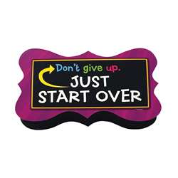 Magnetic Whiteboard Eraser-Start Over Quote
