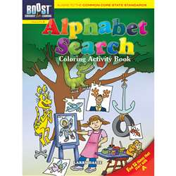Shop Boost Alphabet Search Coloring Activity Book Gr 1-2 - Dp-494160 By Dover Publications