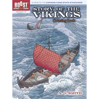 Shop Boost Story Of The Vikings Coloring Book - Dp-49439X By Dover Publications
