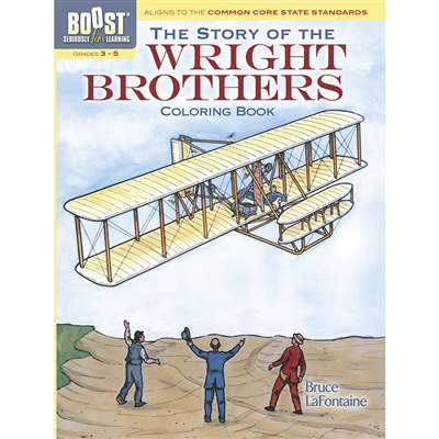 Shop Boost The Story Of The Wright Brothers Coloring Book - Dp-494403 By Dover Publications