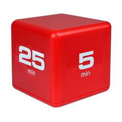 Productivity Timecube Timer Red 5-10-20-25 Minute , DTXDF38