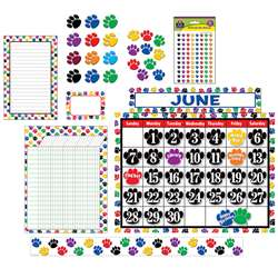Colorful Paw Print Set For Classrooms, EDR15PAWPRINT