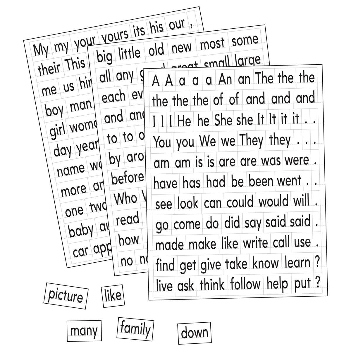 Magnetic Sight Words & Sentence Builders - EI-1610