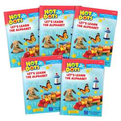 Hot Dots Jr Alphabet Set Of 5 Books Lets Learn, EI-2395B