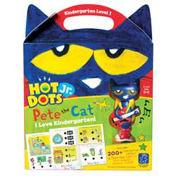 Hot Dots Jr Pete The Cat I Love Kindergarten Set &, EI-2453