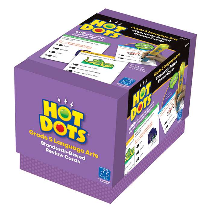 Hot Dots Standards Based Language Arts 5 By Educational Insights