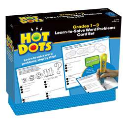 Hot Dots Learn To Solve Word Problem Set Gr 1-3 By Educational Insights