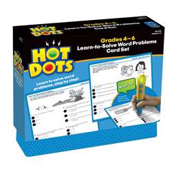 Hot Dots Learn To Solve Word Problem Set Gr 4-6 By Educational Insights