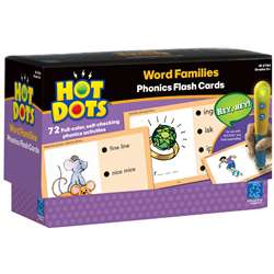 Hot Dots Phonics Program Set 5 Word Families By Educational Insights