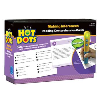 Hot Dots Reading Comprehension Kits Set 6 Making Inferences By Educational Insights