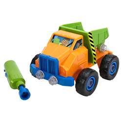 Design Pwr Play Vehicle Dump Truck And Drill, EI-4129