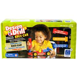 Design & Drill Power Play Vehicles Race Car, EI-4131