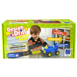 Design & Drill Power Play Vehicles Monster Truck, EI-4132