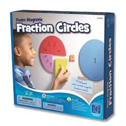 Foam Magnetic Fraction Circles By Educational Insights