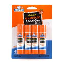 Elmers 4Pk School Glue Sticks All Purpose Washable, ELME542