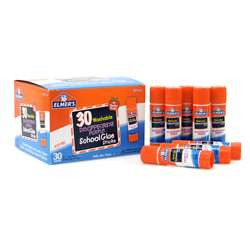 Elmers 30Pk School Purple Glue Sticks Disappearing, ELME555