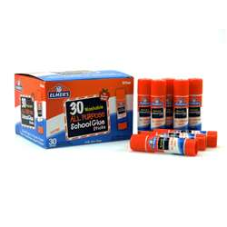 Elmers 30Pk School Glue Sticks All Purpose Washabl, ELME556