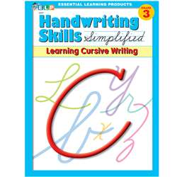 Handwriting Skills Simplified Learning Cursive By Essential Learning Products