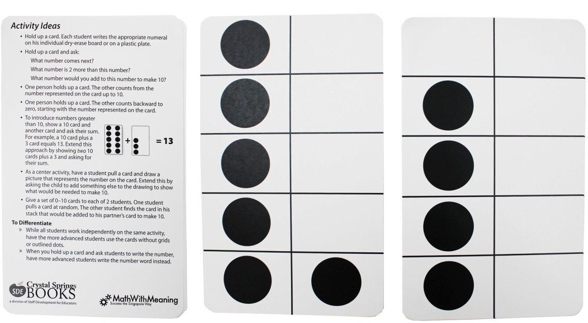 Ten Frame Cards by Essential Learning Products: Math Flash Cards ...