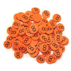 Place Value Disks 100 Hundreds Disks By Essential Learning Products