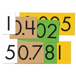 4-Value Decimals To Whole Number Place Value Cards, ELP626641