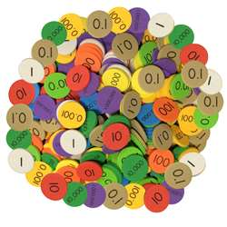 Place Value Disc 10 Value 3000Set Decimal/Whole Nu, ELP626660