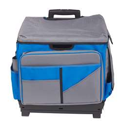 Gray/Blue Roll Cart/Organizer Bag, ELR0550BBL