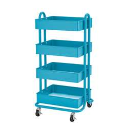 4-Tier Util Rolling Cart Turquoise, ELR20702TQ