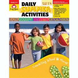 Daily Summer Activities Gr 3-4 By Evan-Moor