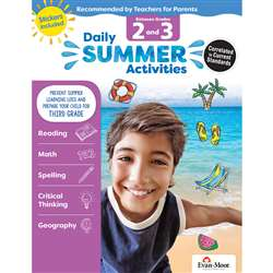 Moving From 2Nd To 3Rd Grade Daily Summer Activiti, EMC1073