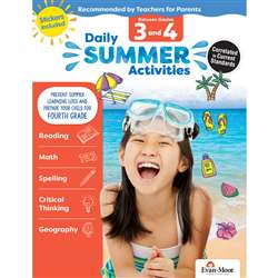 Moving From 3Rd To 4Th Grade Daily Summer Activiti, EMC1074