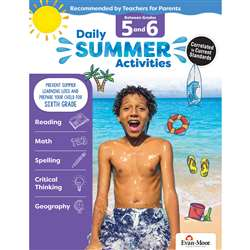 Moving From 5Th To 6Th Grade Daily Summer Activiti, EMC1076